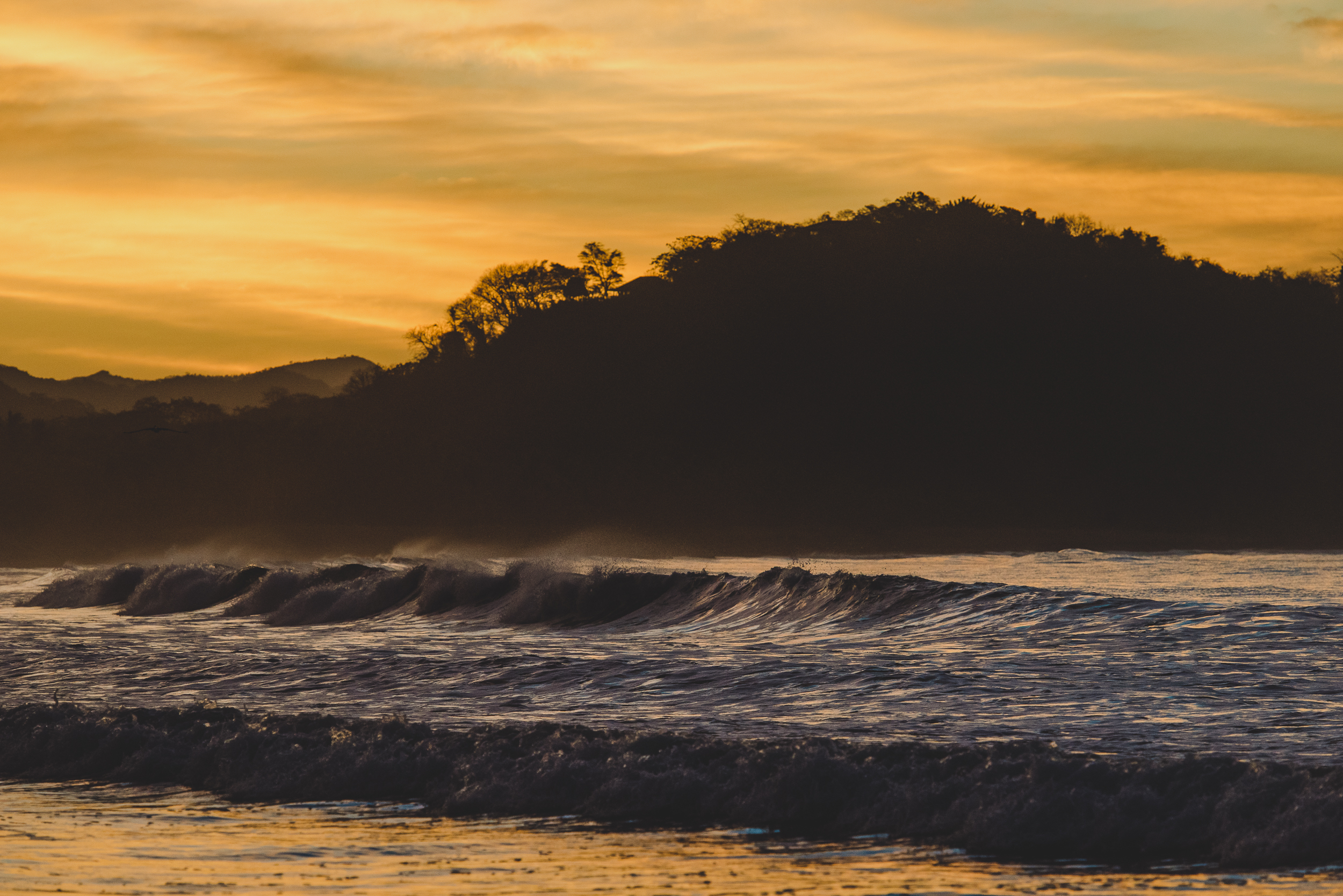 Costa Rican Waves at Sunrise