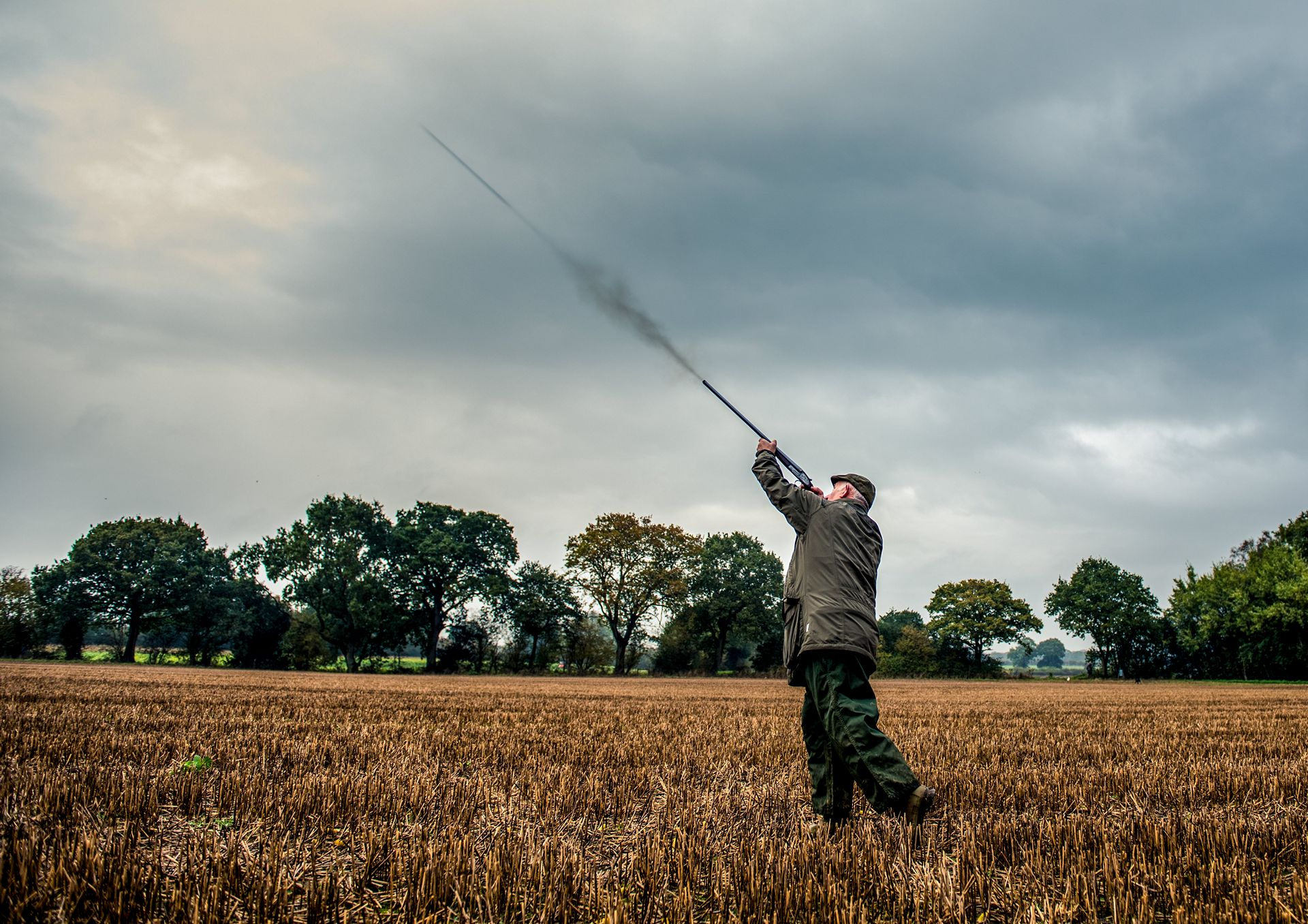 Partridge shooting producing natural, unposed shots that each gun can take away as a memorable record of their day.