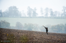gun shooting in the mist in the UK