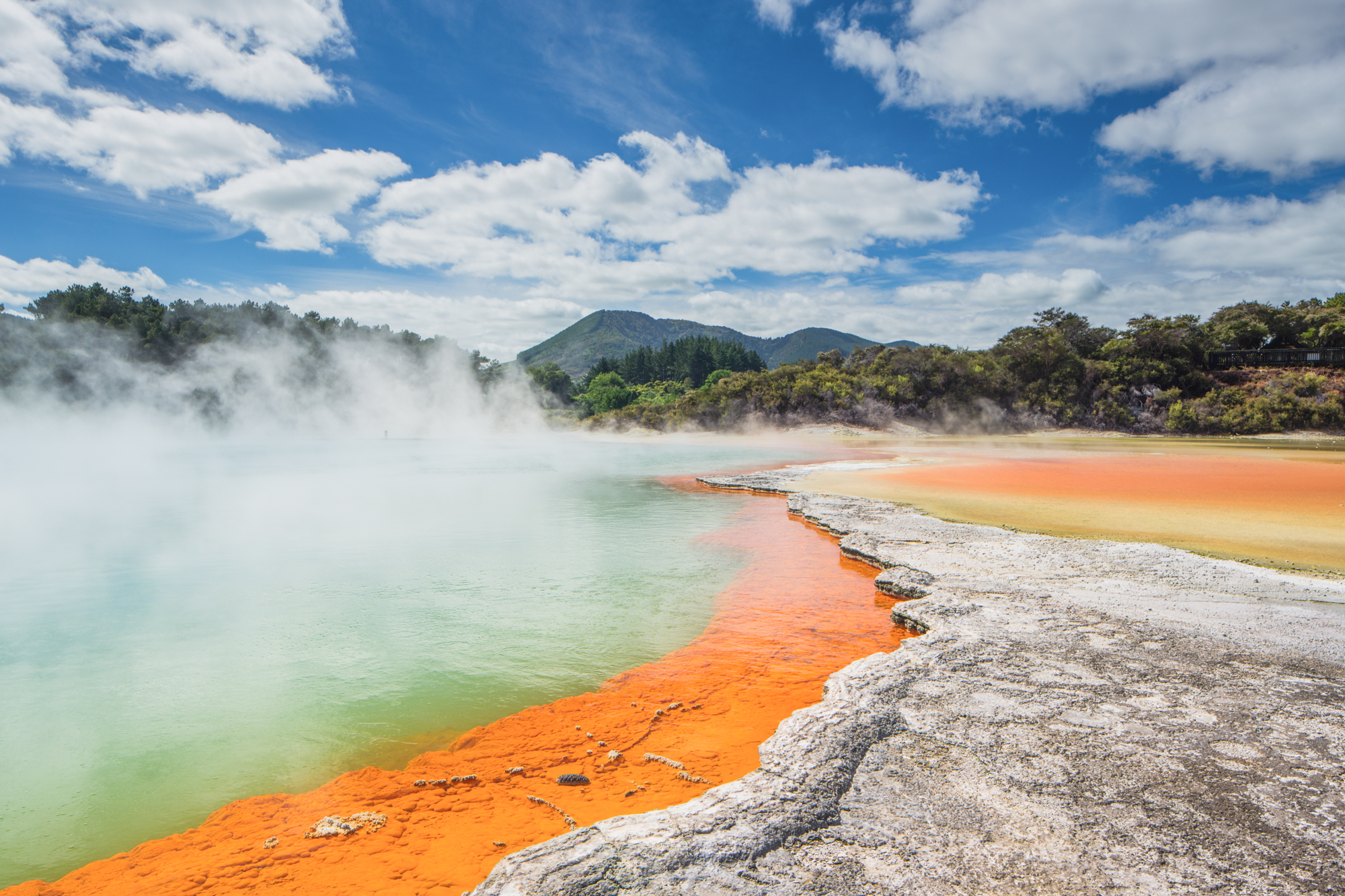 Sulphur Lakes in New Zealand