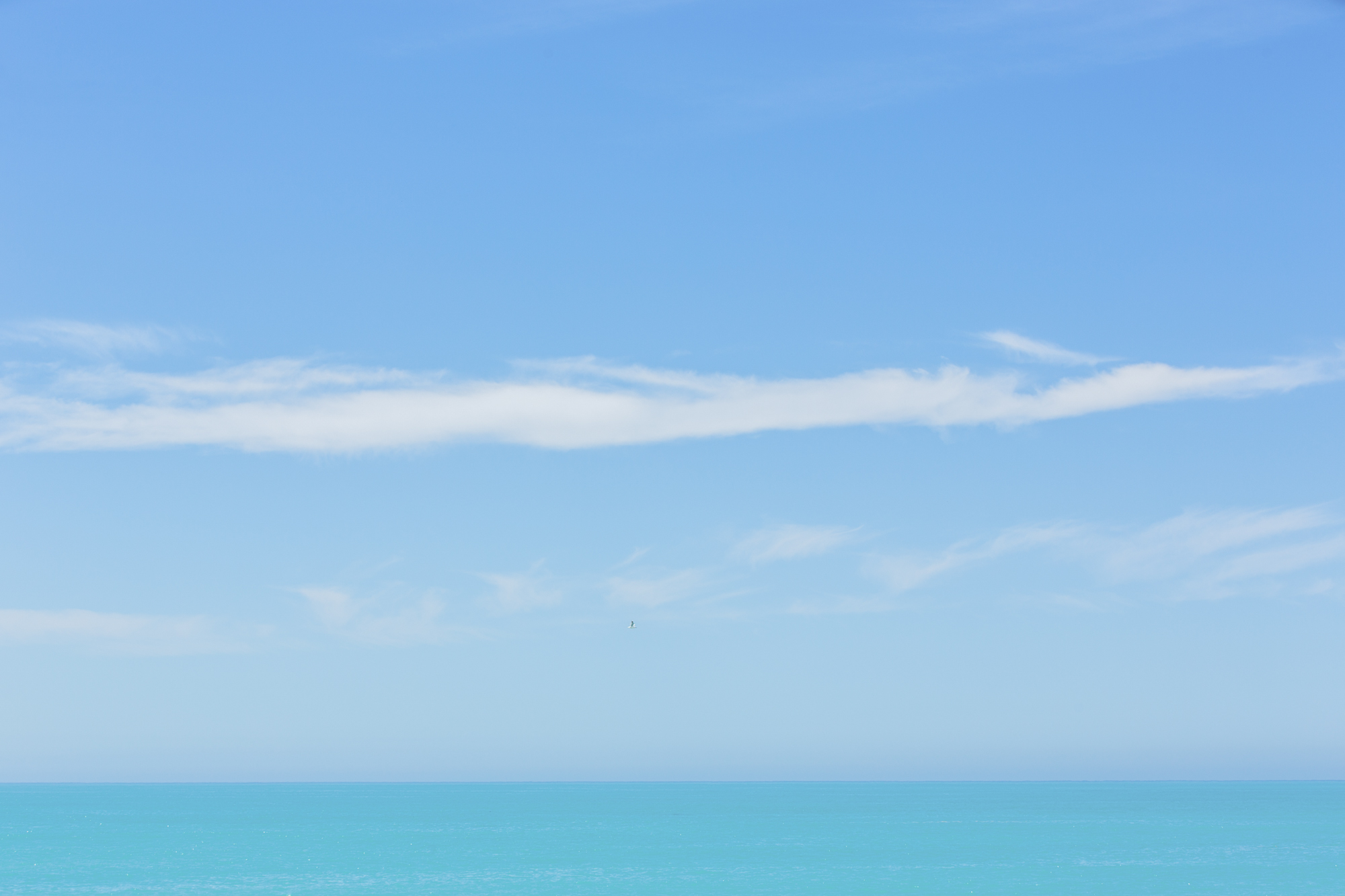 A view of the clouds over the sea
