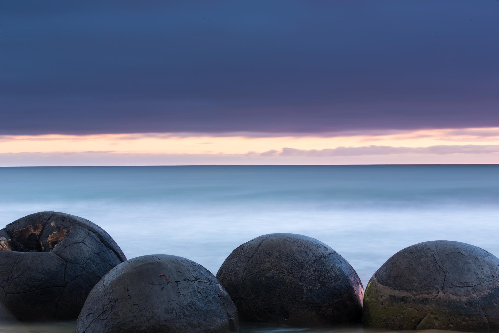 Rocks on the edge of the ocean
