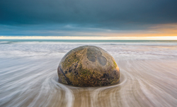 A rock stranded on the beach