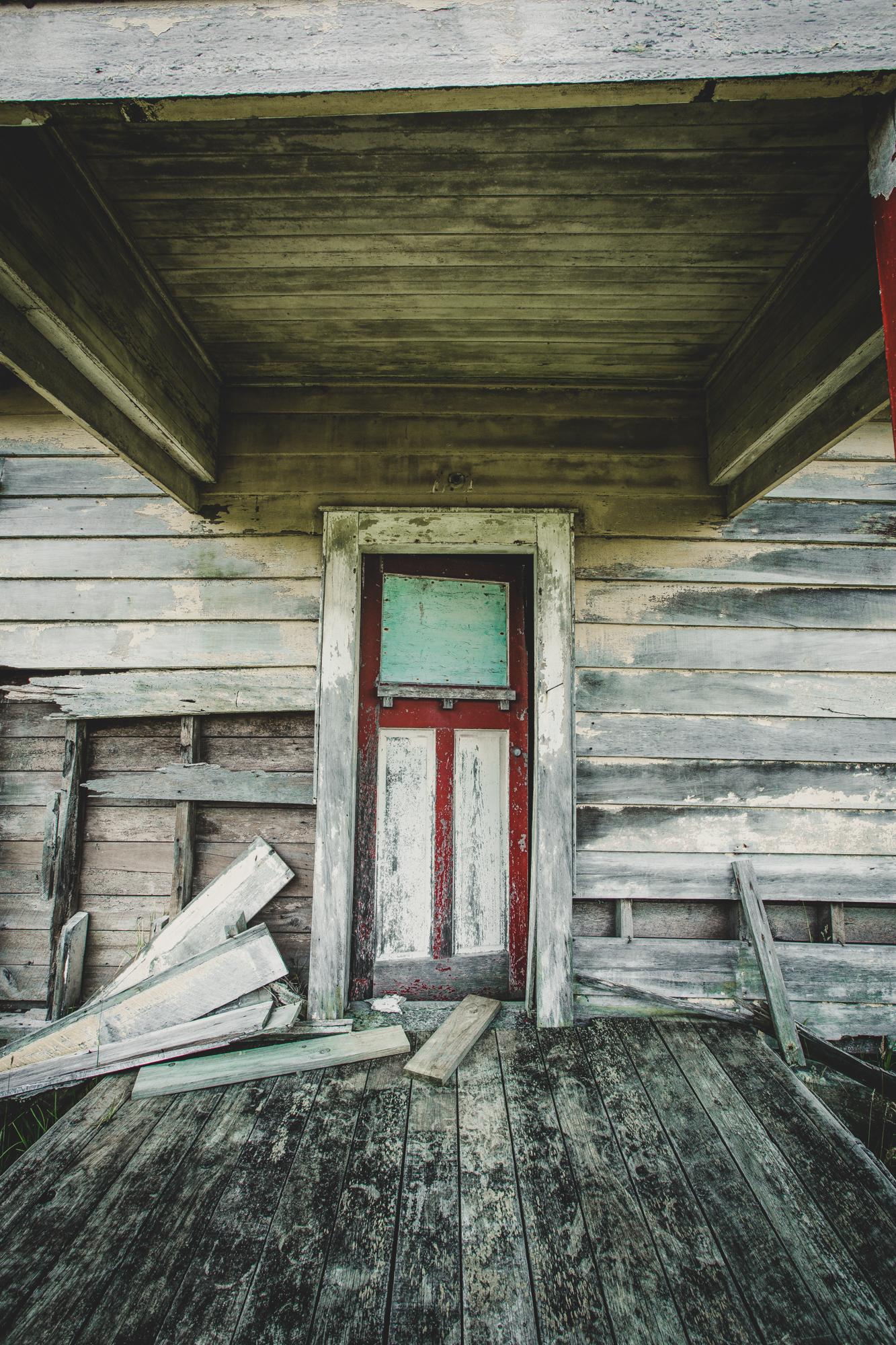 Abandoned Front Door