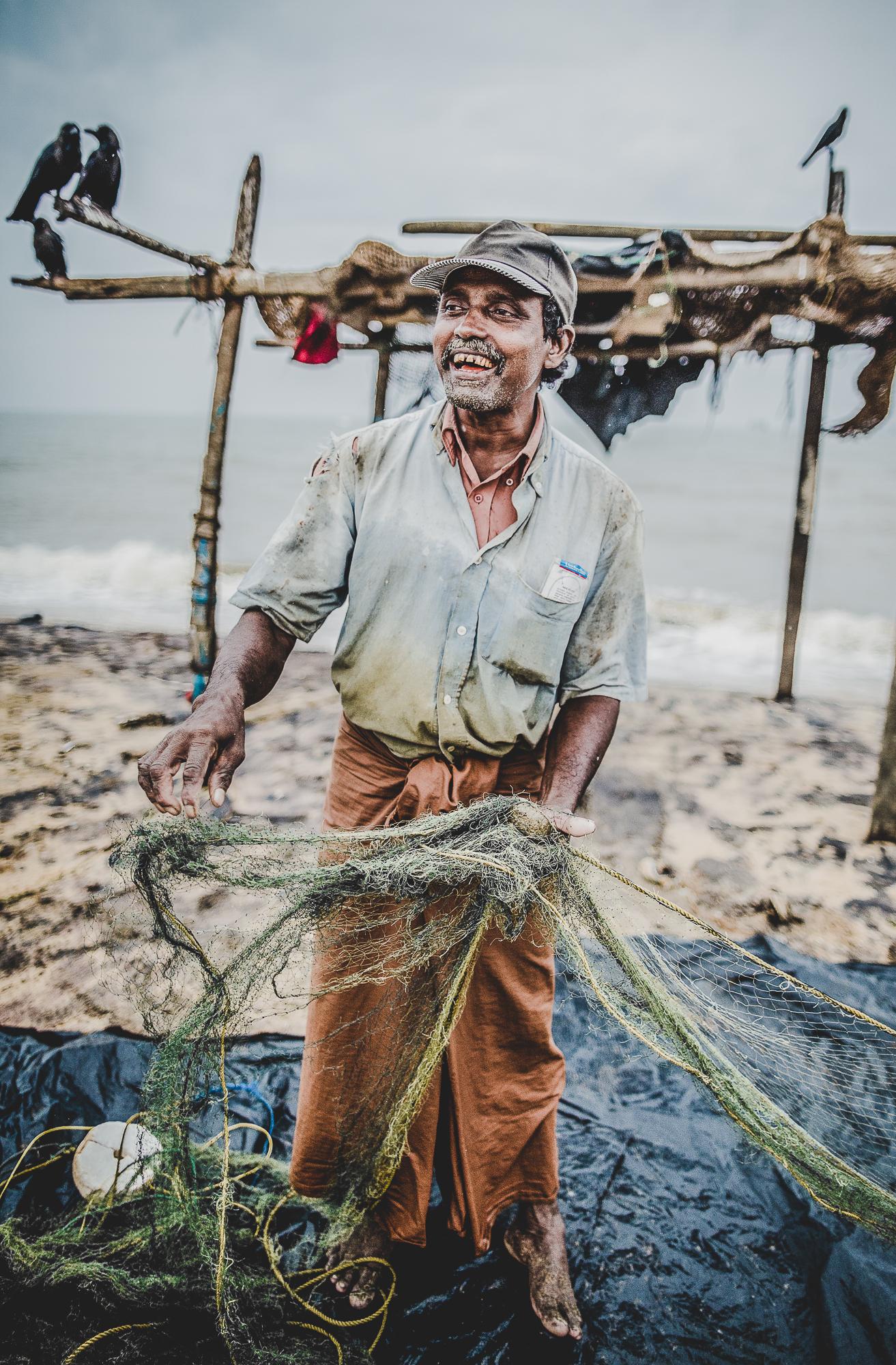 Portrait of a Sri Lankan Fisherman