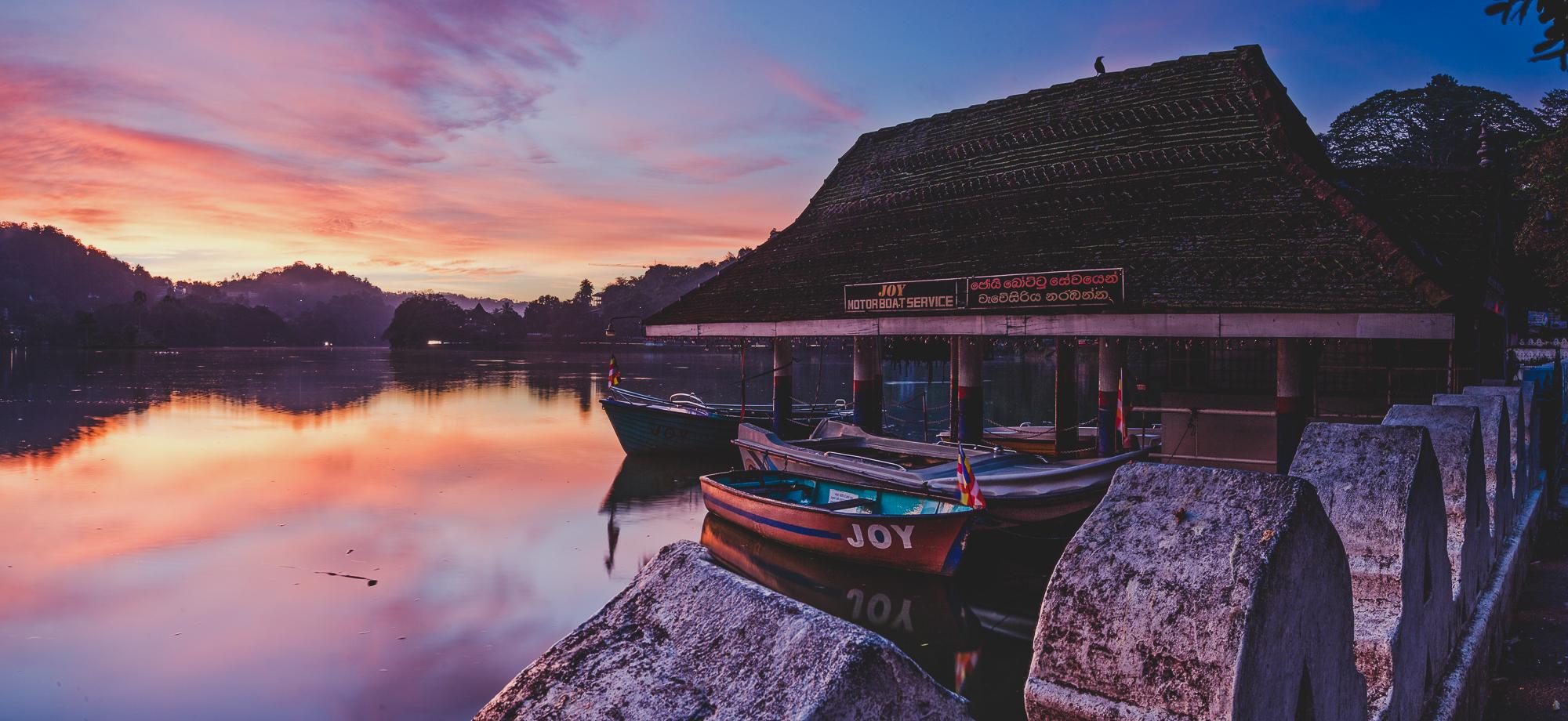 Kandy lake at sunrise
