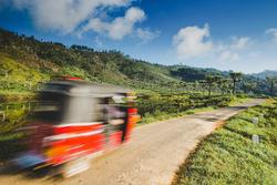 Tuk Tuk speeding through the roads of Sri Lanka
