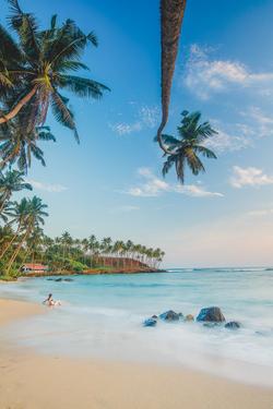 A palm beach in Sri Lanka
